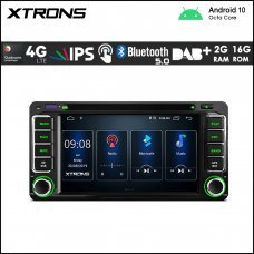 "Xtrons PSD60HGT Toyota 6.2"" Android Navigation Multimedia Player with Built-in DSP,4G and CD player"