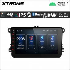 "Xtrons PSD80MTVL 8"" VW / SEAT / SKODA Navigation Multimedia Player with Built-in DSP and 4G"