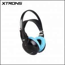 Xtrons DWH003S IR Wireless / Cordless Dual Channels Stereo Blue Headphones For Kids