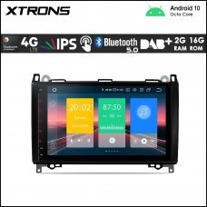 "Xtrons IN90M245L 9"" Mercedes-Benz (A/B/Vito/Sprinter) Custom Fit Android Car Stereo Multimedia Navigation System With 4G"