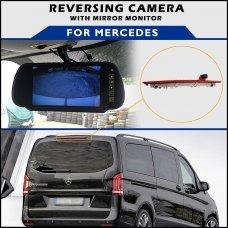 Mercedes Vito 2016+ Brake Light Reversing Camera With Mirror Monitor