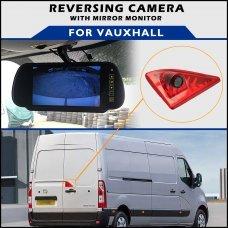Vauxhall Movano 2010+ Brake Light Reversing Camera With Mirror Monitor