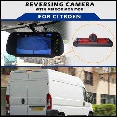 Citroen Relay/Jumper Brake Light 2006-2016 Reversing Camera With Mirror Monitor