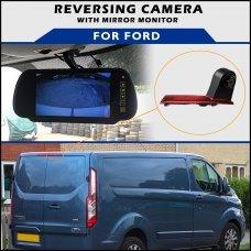 Ford Transit Custom Twin Door Brake Light 2012+ Reversing Camera With Mirror Monitor