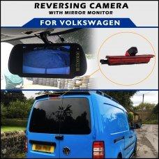 Volkswagen Caddy Brake Light 2004+ Reversing Camera With Mirror Monitor
