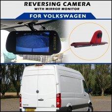 Volkswagen Crafter Tailgate Brake Light 2006+ Reversing Camera With Mirror Monitor