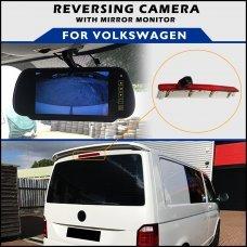 Volkswagen T6 Tailgate Brake Light 2015+ Reversing Camera With Mirror Monitor
