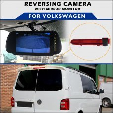 Volkswagen T5/T6 Barn or Twin Door Brake Light 2010+ Reversing Camera With Mirror Monitor