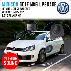 Audison Prima APSP Golf MK6 Upgrade Pack With Front Speakers,DSP,AMP and Subwoofer