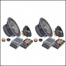 """Ground Zero Uranium GZUC 65.3QX 6.5"""" 3 Way Speakers"""