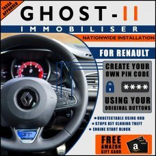 Autowatch Ghost 2 Immobiliser For Renault - Mobile Installation FREE £25 Amazon Gift Voucher