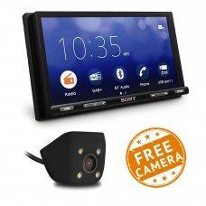"""Sony XAV-AX5550D 7"""" Bluetooth DAB Android Auto/CarPlay & WebLink (Free Reversing Camera)"""