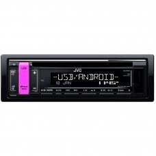 JVC KD R491 CD Receiver with Front USB AUX Input MP3 FLAC Android Playback Tuner Car Stereo