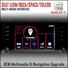 Adaptiv ADV-ST1 Seat Leon 2014>/ Ibiza 2015>/ Spaceback 2015>/ Toledo 2015> Factory OEM Multimedia SATNAV/USB/SD/AUX Upgrade