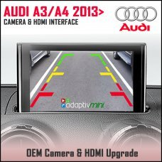 Adaptiv Mini ADVM-AU1 Audi A3 2013>, A4 2015> Factory OEM Screen HDMI/Front & Rear Camera Upgrade