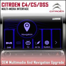 Adaptiv ADV-PSA.EU Citroen C4 Picasso 2013> Grand Picasso 2010> Cactus 2014>  C5 Saloon 2012>, C5 Tourer 2012>, DS3 2017>, DS5 2012> Factory OEM Multimedia SATNAV/USB/SD/AUX Upgrade