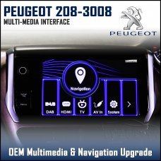 Adaptiv ADV-PSA Peugeot 308/2013> 508/2014> 208/2011> 3008/2014> Factory OEM Multimedia SATNAV/USB/SD/AUX Upgrade