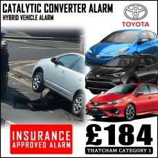 Toyota Hybrid Catalytic Converter Insurance Approved Alarm System